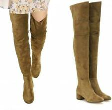 Occident Womens Block Heel Round Toe Over Knee High Thigh Boots Shoes Cosplay