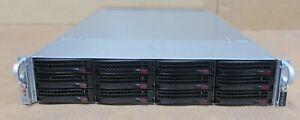 Supermicro SuperServer CSE-829U 2x E5-2620v3 64GB Ram 12x Bay X10DRU-i+ Server