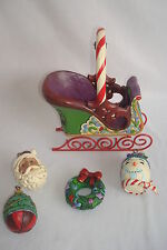 "Jim Shore ""Jingle All The Way"" Set of  (Sleigh & 4 Ornaments) 4031689 MIB 2012"