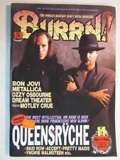 BURRN! JAPAN IMPORT MAGAZINE NOV 1994 QUEENSRYCHE PROMISED LAND CD/LP ERA OOP