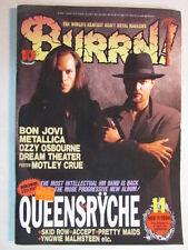 BURRN! JAPAN IMPORT MAGAZINE NOV 1994 QUEENSRYCHE PROMISED LAND CD/LP ERA OOP