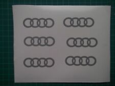 Audi....logo / badge car vinyl decal sticker ....x4.....