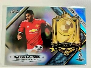 2018-19 Topps Chrome Champions League Debuts Marcus Rashford Manchester United
