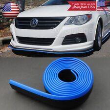 """1.3"""" Black Blue Trim EZ Fit Bumper Lip Splitter Chin Splitter For Mazda Subaru"""