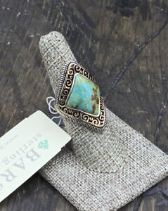 Barse Marquise Ring- Turquoise & Mixed Metals-7-New With Tags