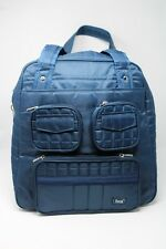 Lug Navy Blue Overnight Quilted Bag Large