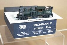 PFM UNITED SCALE MODELS BRASS MICHIGAN II 2 TRUCK SHAY COOS BAY LUMBER LOCO pq
