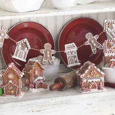"NEW!~RAZ Imports~30"" GINGERBREAD MAN & HOUSE COOKIE GARLAND~Christmas~Claydough"