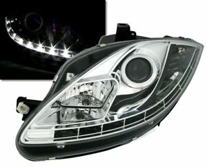 SEAT LEON  SEAT ALTEA & SEAT TOLEDO 5P CLEAR DRL HEADLIGHTS HEADLAMPS
