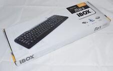 Tastatur Keyboard QWERTY Englisch iBOX Mars USB Schwarz