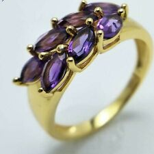 Natural GTL Certified Amethyst February Gemstone 14 K Gold Engagement Ring