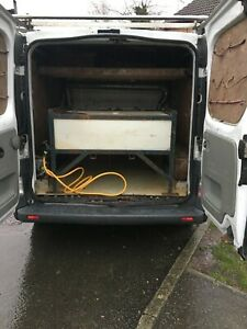 150 litre lay flat water tank and hand made frame width fits Vivaro style van