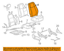 GM OEM Front Seat-Cushion Cover-Top Back 25799754