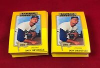 Lot Of 75 Cards 1980-87 SSPC HOF Baseball Immortals Don Drysdale Card # 187 RG1