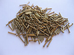 """Made in UK 1/32"""" dia 1/4"""" Long Round head solid BRASS rivets Model steam Boiler"""