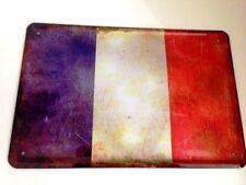 Francia france bandera bandera Flag chapa escudo Escudo chapa Tin sign 20 x 30 cm