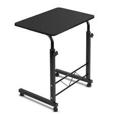 Portable Adjustable Wooden Latpop Stand Black