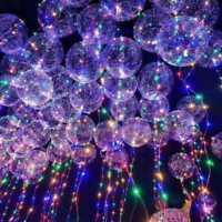 """Creative 18"""" Multi LED Light Up Effacer Ballon de Noël de mariage anniversaire D"""