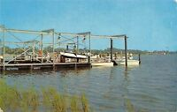 Brunswick Georgia~Yacht Club Basin~1950s Postcard