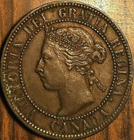 1893 CANADA LARGE CENT PENNY LARGE 1 CENT - Excellent example!
