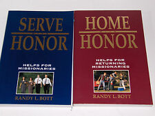 2 Books SERVE with HONOR- HOME with HONOR Helps for Missionaries Bott Mormon LDS