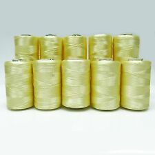 Lot Of 10 Pcs Yellow Silk Embroidered Machine Sewing Supplies Spool Thread Cones