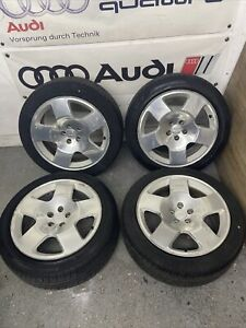 """AUDI TT MK1 98-06 8N 17"""" 5X100 COMPETITION COMPS ALLOY WHEELS + TYRES 8N0601025H"""