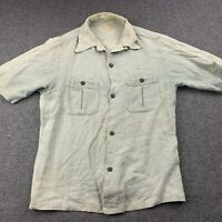 VTG ELM-COOL MEN SMALL STYLED FOR FLORIDA GREEN BUTTON UP SHORT SLEEVE SHIRT