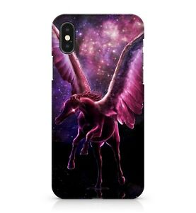 Pink Space Majestic Flying Unicorn Twinkling Colourful Galaxy Phone Case Cover