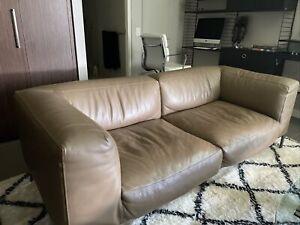 B&B Italia Leather 2 Seat Sofa