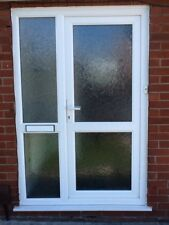 Front Door And Side Panel -  double glazed white  -  UPVC very Good Condition