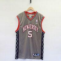 Vintage Jason Kidd #5 New Jersey Nets Reebok Jersey Size Medium NBA Basketball
