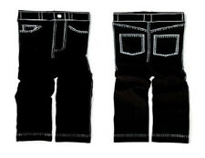 New Trumpette BLACK LEGGINGS JEANS-LOOK  Fits MOST 6 mos - 2 yrs cute gift