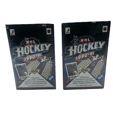 Two Boxes 1990-91 Upper Deck NHL Hockey trading cards box Collector's Choice New