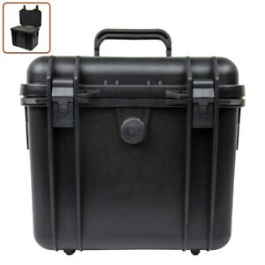 "Weatherproof Hard Case Dry Box Camera Lens w/ Customizable Foam 11"" x 8"" x 10"""
