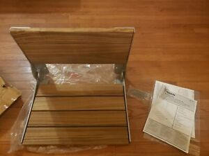 Moen DN7110 Teak Wall Mounted Wood Shower Seat From The Home Care Collection