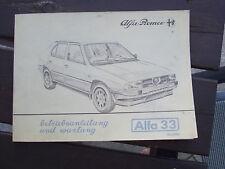 ALFA 33 Original Betriebsanleitung 1985