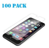 100x Wholesale Lot Tempered Glass Screen Protector for iPhone 5 SE X 8 6s 7 11
