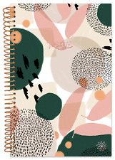 2022 Soft Cover Mini Pocket Size Planner Green Modern Abstract