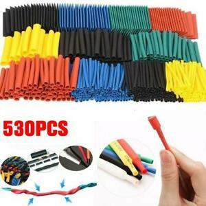 530Pc Heat Shrink Tubing Tube Sleeve Kit Car Electrical Cable Wire Wrap Hot Best