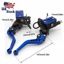 US CNC Adjustable Blue Hydraulic Brake Clutch Master Cylinder Reservoir Levers