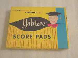 Vintage 1956 Yahtzee Game Score Pads (50 Sheets) E.S. Lowe Company, Inc. boxed