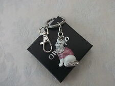 Jewelled Enamel Cat Keyring