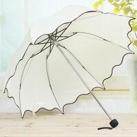 Flouncing Folding Lotus Umbrella Leaves Princess Dome Parasol Sun/Rain Umbrella