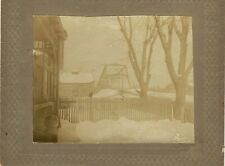 c1900 Pottstown Bridge in Snow~Vintage Photograph~Ad Sign ID'd Dry Goods Store