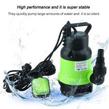 Flachsaugpumpe 400W 10000l/h Edelstahl Tauchpumpe Schmutzwasserpumpe Kellerpumpe