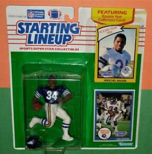 1990 HERSCHEL WALKER Minnesota Vikings NM Starting Lineup + 1986 Cowboys card