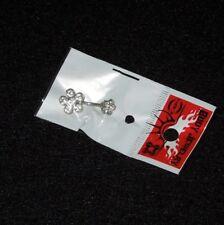 Belly Ring Nsk03 1411-C Nip Clear Crystal/Rhinestone Double Flower