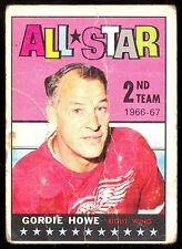 1967 68 TOPPS HOCKEY #131 GORDIE HOWE LG-VG ALL STAR DETROIT RED WINGS