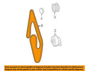 Mercedes MERCEDES-BENZ OEM 00-06 S430-Serpentine Drive Fan Belt 0149977192